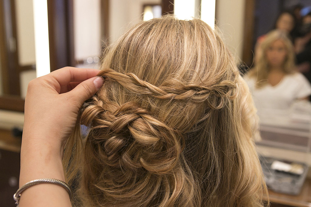 Drape the braid over to find the right placement.