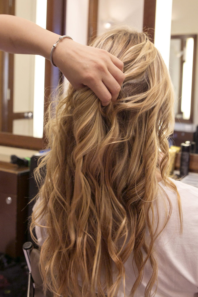 Once the waves have set, run your fingers through them to get the optimal beachy texture to complement your braids.
