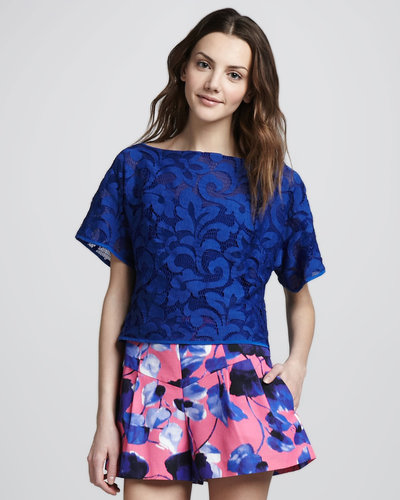 Milly Cropped Top, Lapis