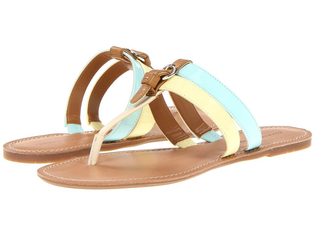 If bright colors aren't quite your thing, try pastel like these Tommy Hilfiger slides ($49).