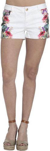 Tropical Mirror Print Shorts