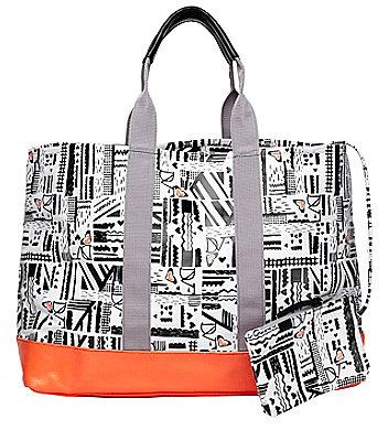 DVF Loves Roxy Tote Bag In Roxy Maze True Black