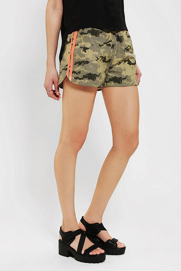 Sparkle & Fade's camo runner shorts ($44) feature a pop of orange that gives them a playful edge.