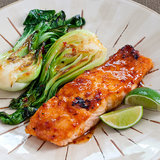 Chili-Glazed Salmon With Bok Choy