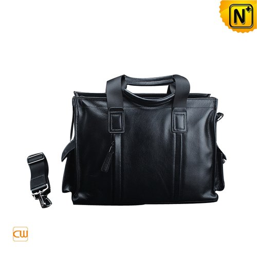 Black Leather Business Bags CW901573 - cwmalls.com