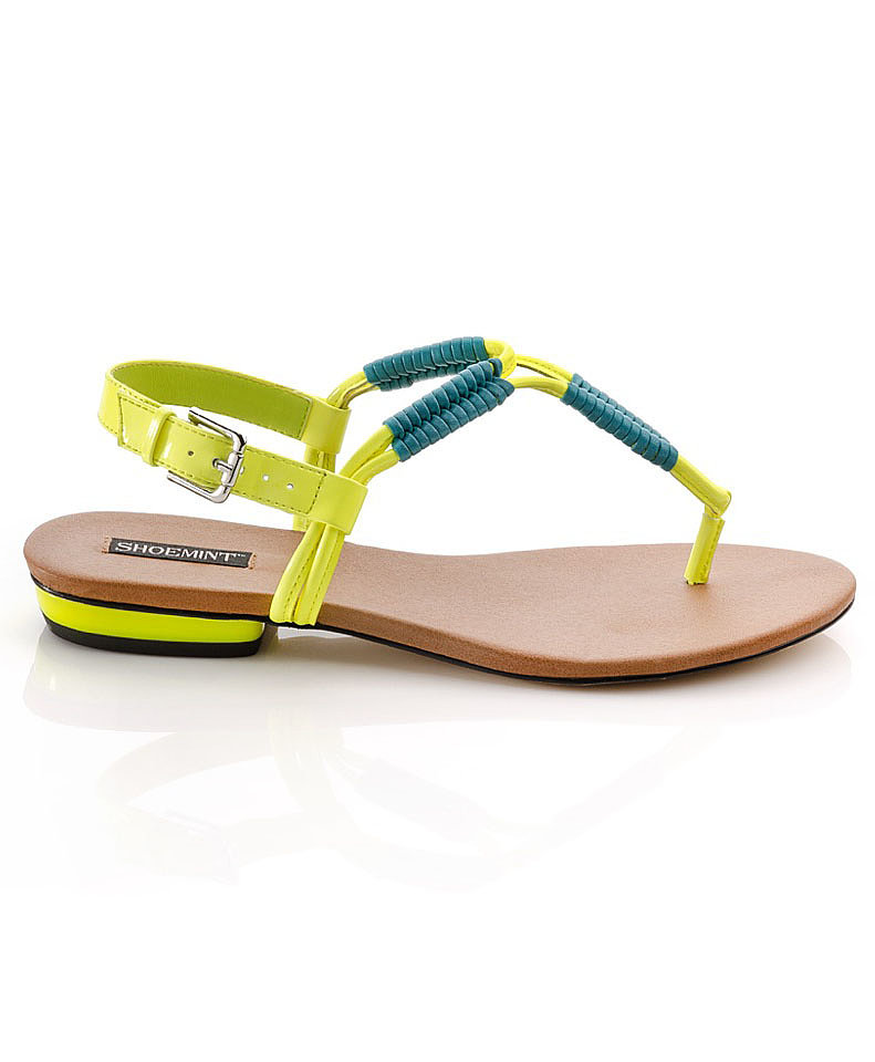 Blue and green meet in ShoeMint's simple flat ($32, originally $80) for a bright addition to any Summer outfit.