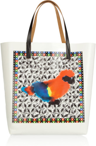 Marni Printed vinyl and leather tote