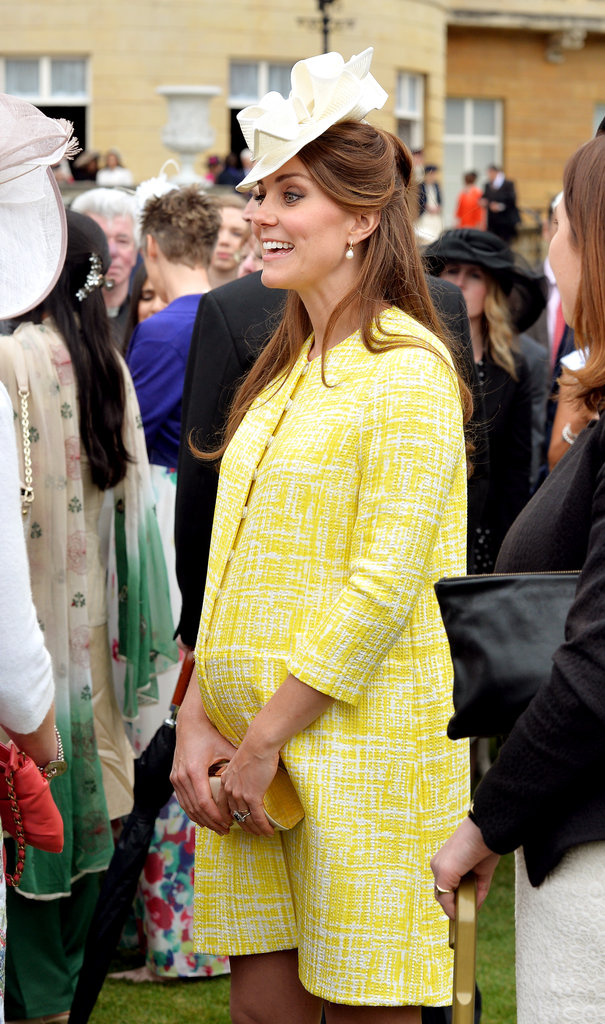 Kate showed off her growing bump.