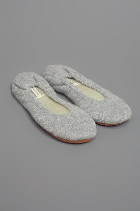 White + Warren Slippers Heather Grey