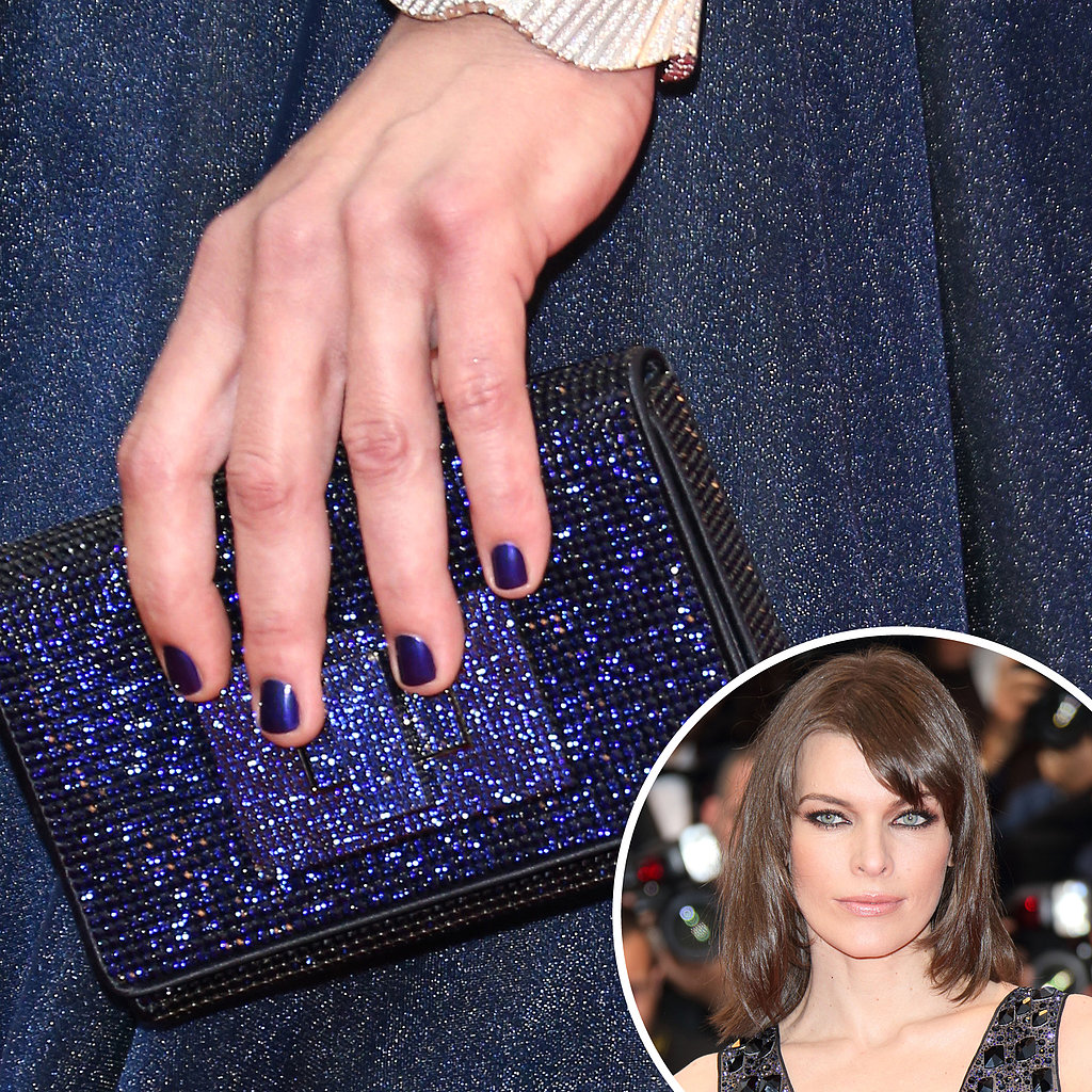 Navy And Sparkly, Milla Jovovich Kept Her Nails, Purse