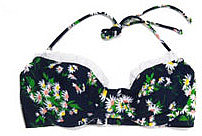 Shoshanna Vintage Daisy Bikini Top