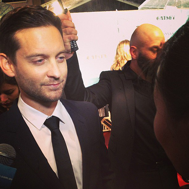 Well lookie here, it's Tobey Maguire! The actor was ... Tobey Maguire Instagram