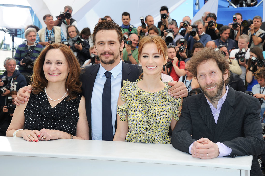 Beth Grant, James Franco, Ahna O'Reilly and Tim Blake Nelson gathered for the photo call of As I Lay Dying.