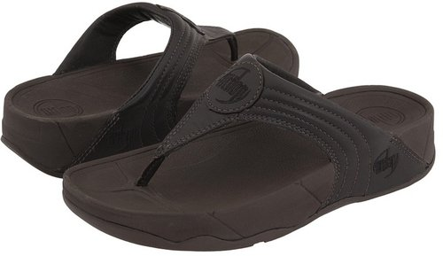 FitFlop - Walkstar III Leather (Chocolate Leather) - Footwear