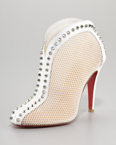 Christian Louboutin Bourriche Studded Red Sole Ankle Boot