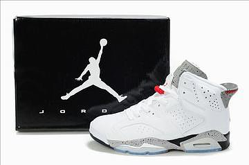 Nike Air Jordan 6 Retro White/Grey Men's 27339