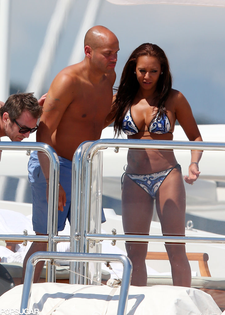Mel B Spices Up Cannes During a Bikini Trip With Her Husband
