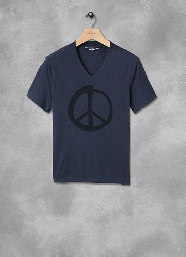 Painted Peace Sign Graphic Tee