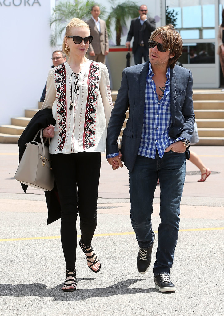 Nicole took a break from her official duties for a stroll with husband Keith Urban. The actress dressed down in flat sandals and a boho top.
