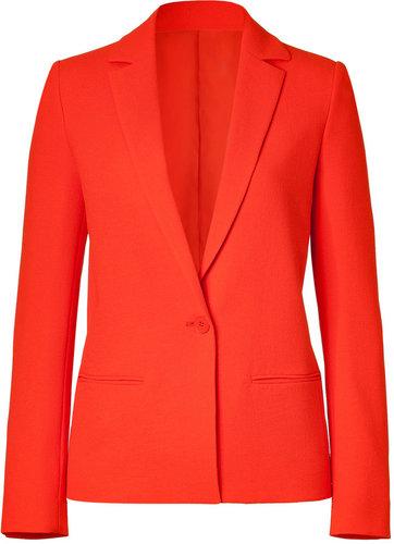 Cédric Charlier Neon Orange One Button Blazer