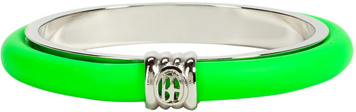 Ben-Amun Neon Green Skinny Rubber Bangle