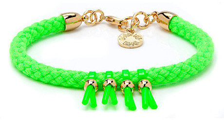 Caroline Baggi Neon Green Frankie Bracelet
