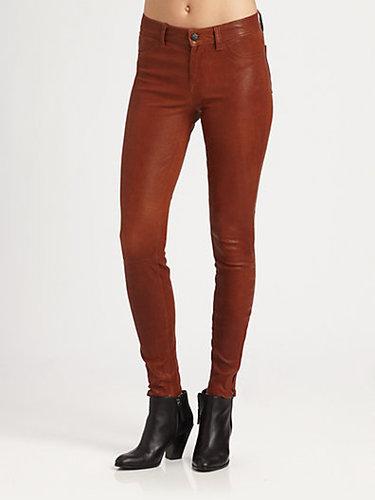 J Brand Mid-Rise Leather Leggings