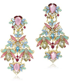 Erickson Beamon / エリクソン ビーモン Dolores Crystals Drop Clip On Earrings