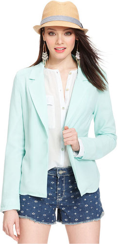 Olive & Oak Jacket, Open-Front Colored Blazer