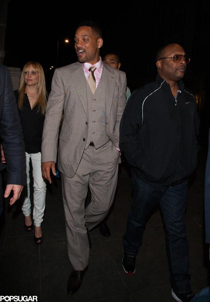 Will Smith walked with DJ Jazzy Jeff.