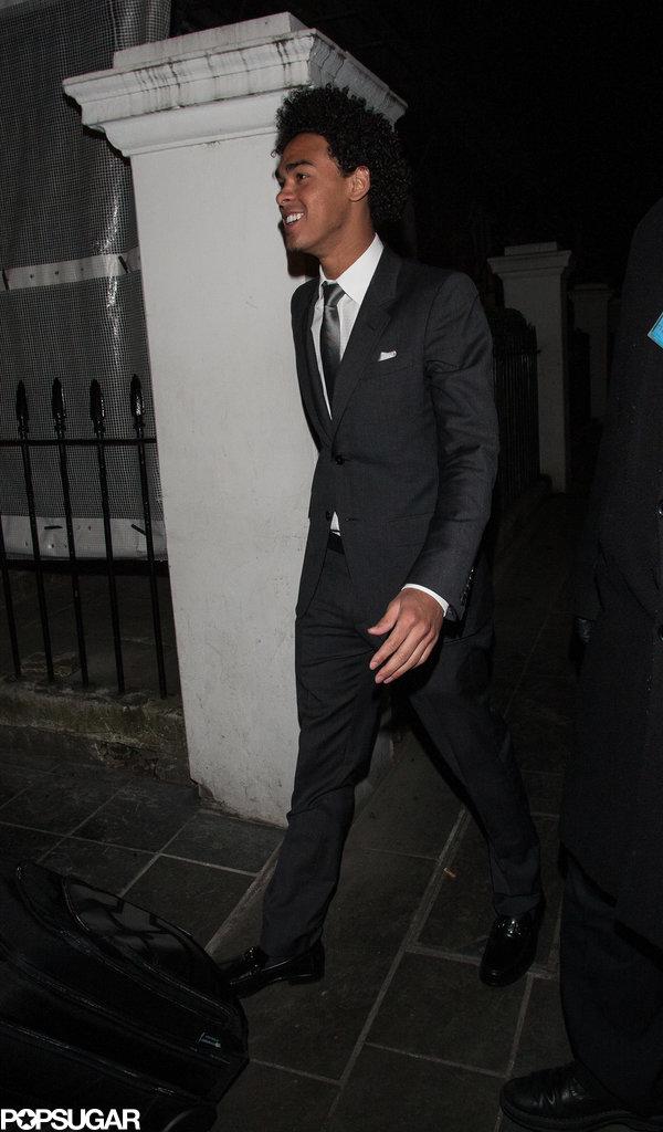 Will Smith's son Trey had a DJ set at the trendy Boujis nightclub in London.
