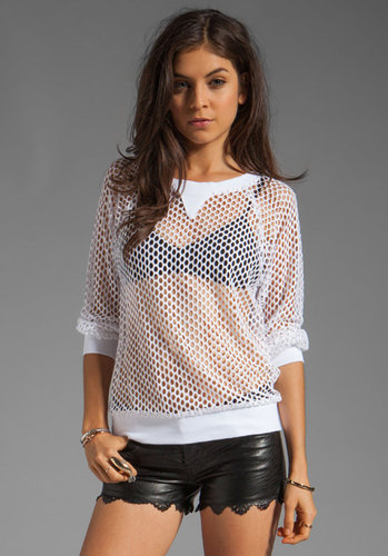 Milly Honeycomb Mesh Sweatshirt