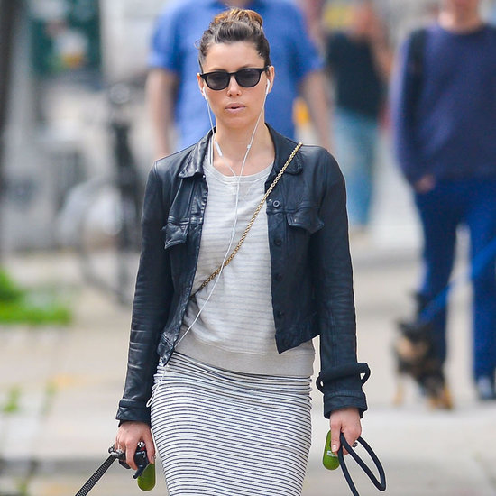 Jessica Biel Wearing AllSaints Dress