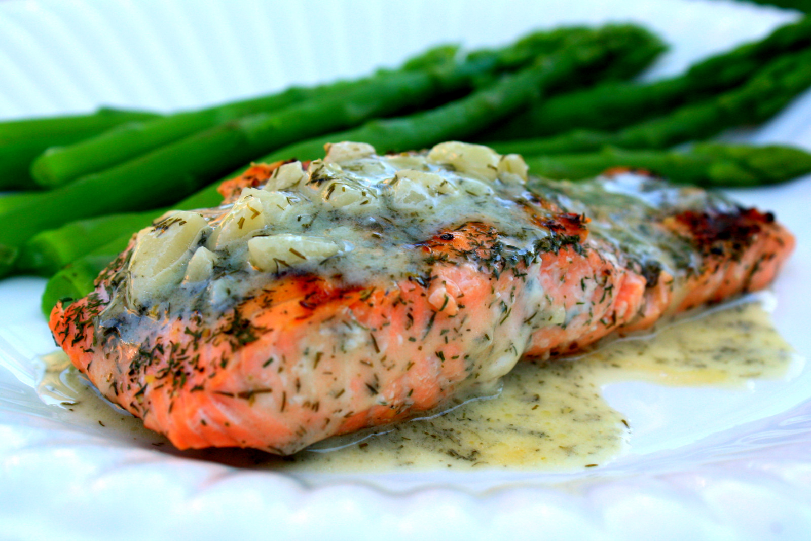 We love to grill fish, especially salmon. This Salmon With Tangy Dill ...