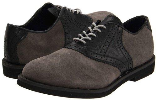 Walk-Over - Saddle (Grey Suede/Black) - Footwear