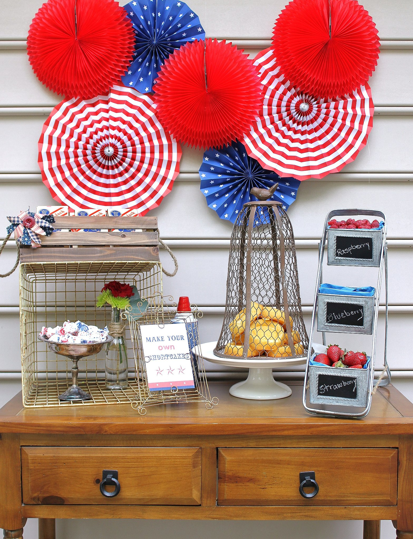 Party On! A Red, White, and Blue Backdrop