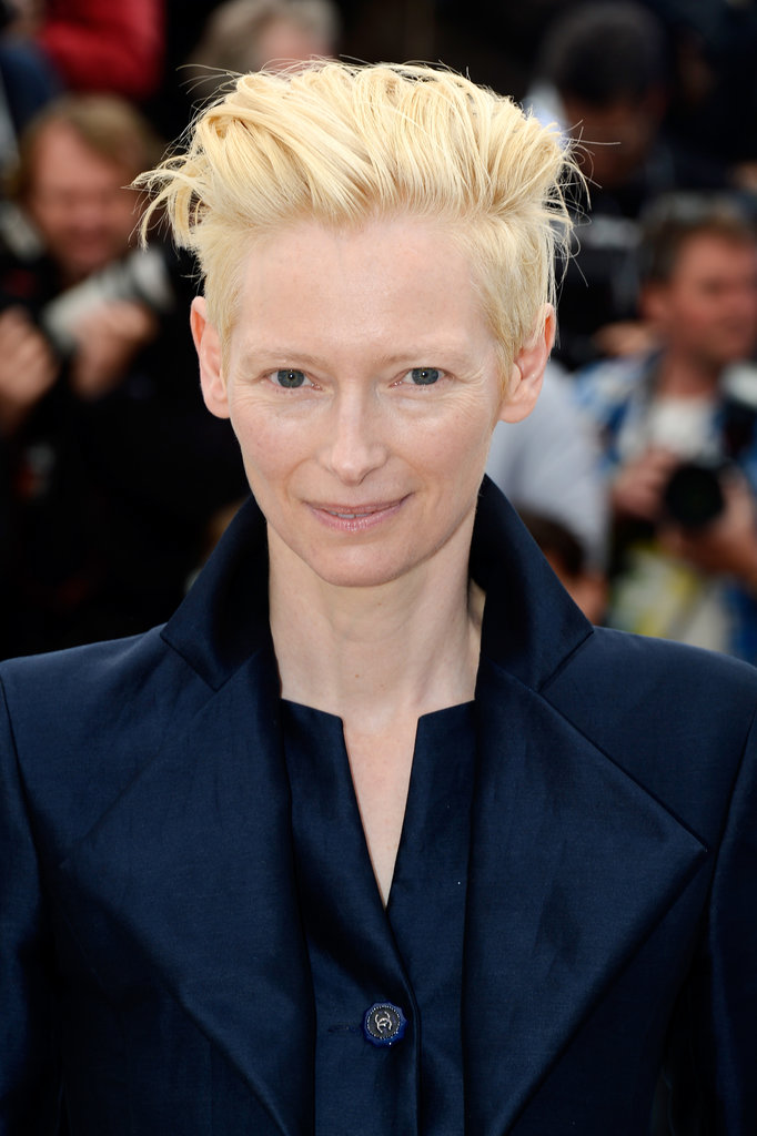 Tilda Swinton looked beautiful at the premiere of Only Lovers Left Alive with dewy skin and her signature pompadour.