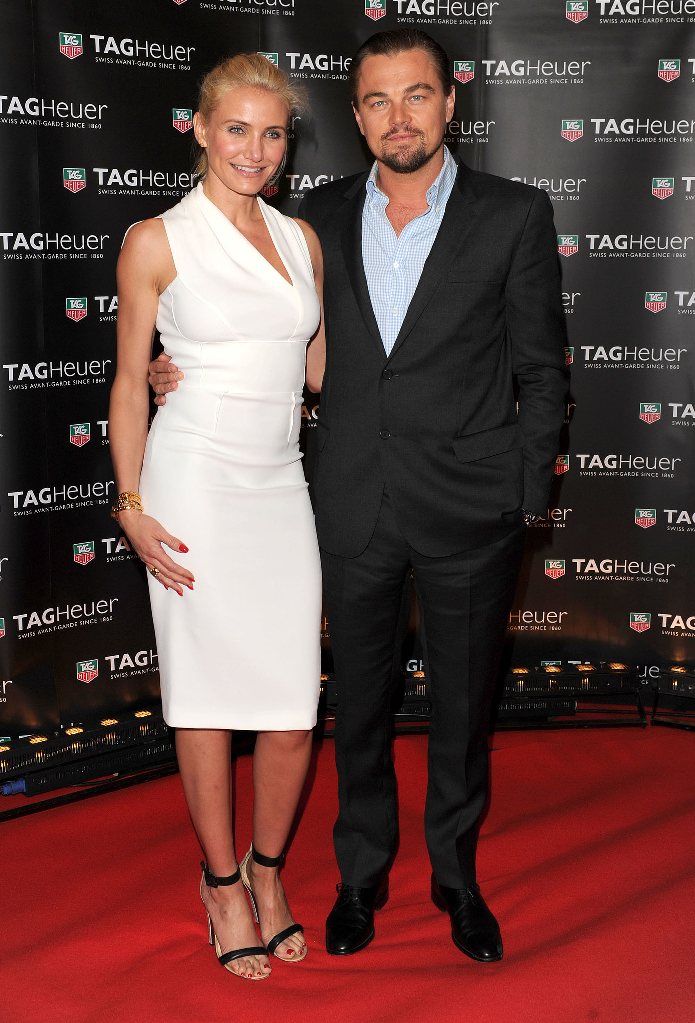 Pals Leonardo DiCaprio and Cameron Diaz linked up at the Cannes Film Festival for the Tag Heuer yacht party.