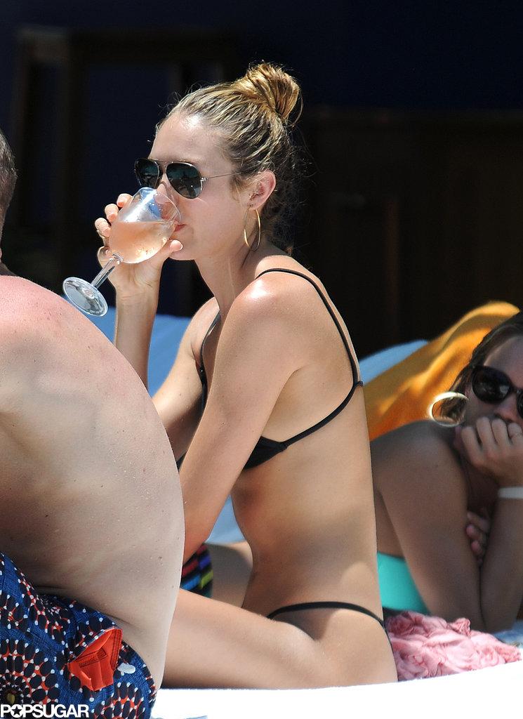 Candice Swanepoel Turns Heads in a Tiny Yellow Bikini