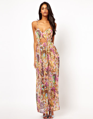 Oh My Love Cami Maxi Dress in Flower Print