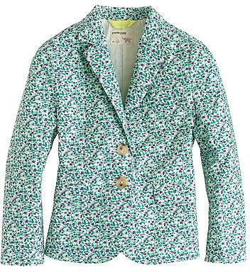 Girls' schoolboy blazer in scattered floral