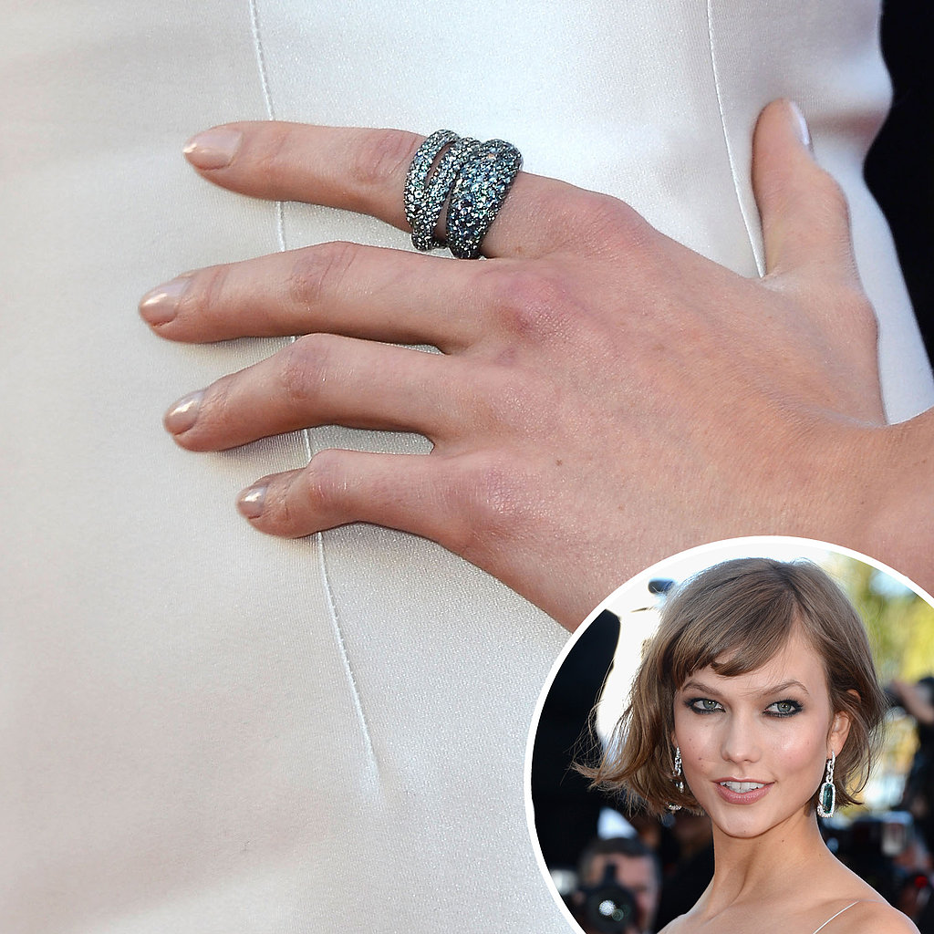 Also at the premiere of The Immigrant, Karlie Kloss wore a white dress with a nude nail.