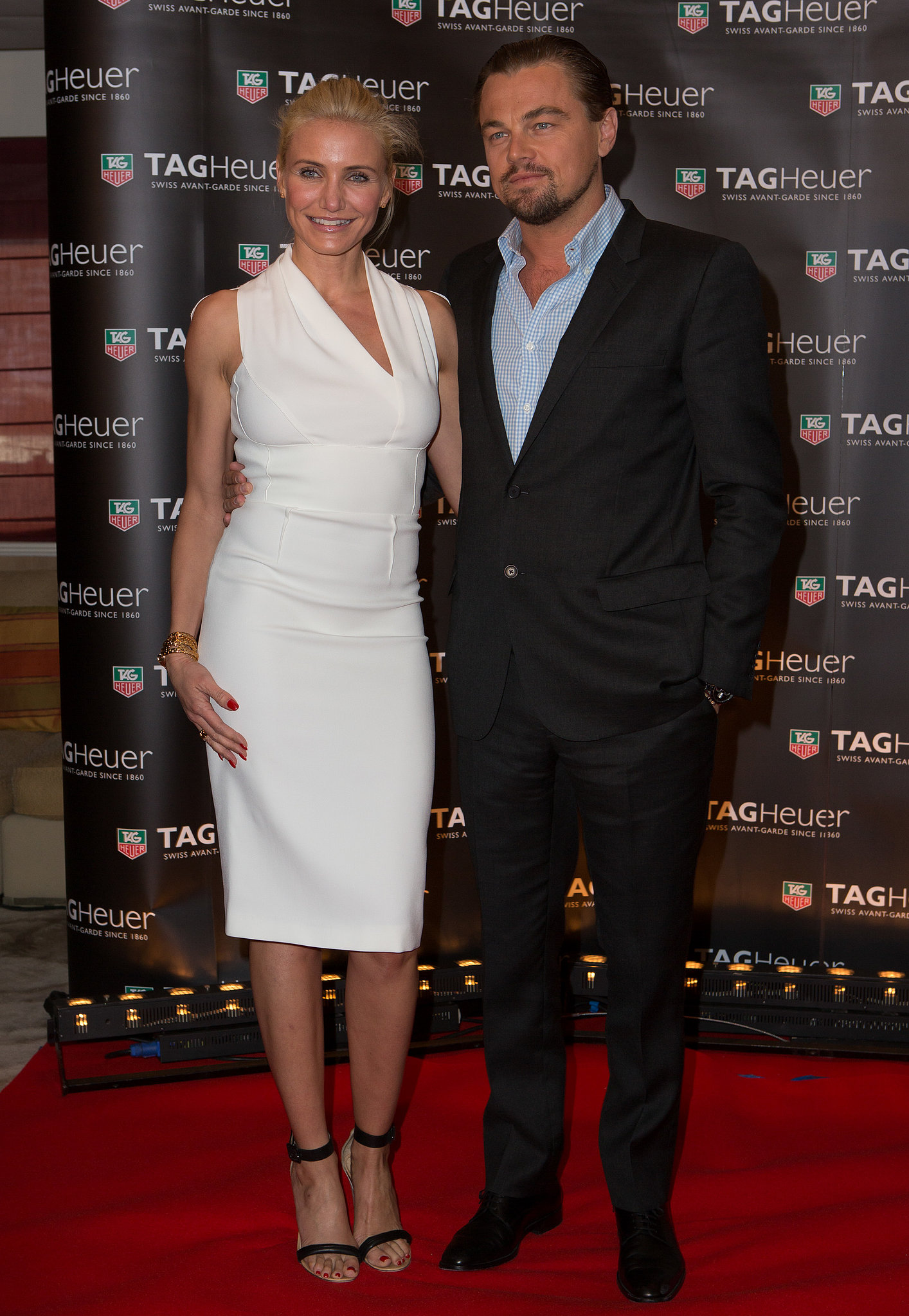 Cameron Diaz and Leonardo DiCaprio met up for the Tag Heuer Grand Prix party in Monte Carlo on Sunday.