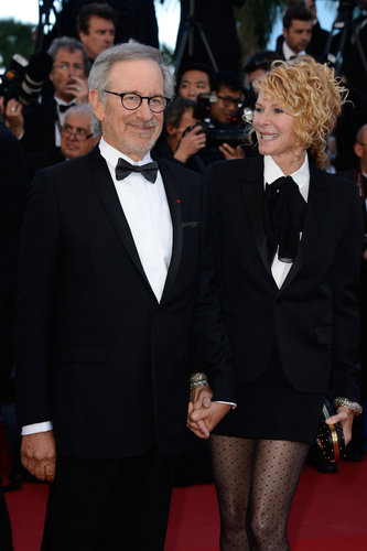 Steven Spielberg held hands with his wife, Kate Capshaw, on Saturday at the screening of La Vénus à la Fourrure.