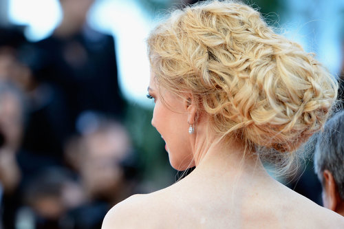 And as for her hair, Nicole was wearing an elaborately braided chignon.