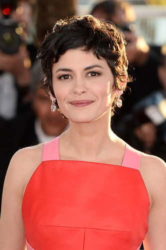 For her final appearance at Cannes, Audrey Tautou continued to shine in her signature curls and natural makeup.
