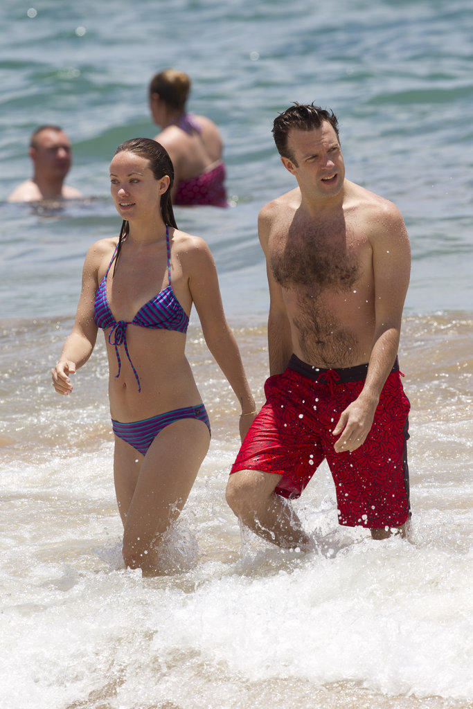 Jason Sudeikis and Olivia Wilde hit the Hawaiian surf in May 2013.