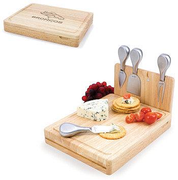 Picnic Time Asiago Folding Cheese Serving Set - Denver Broncos