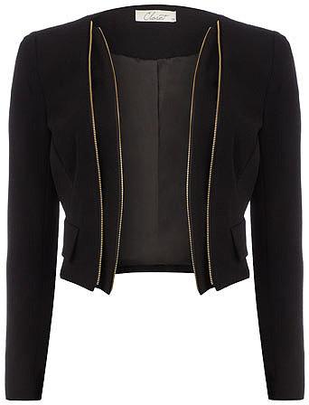 Black zip detail jacket