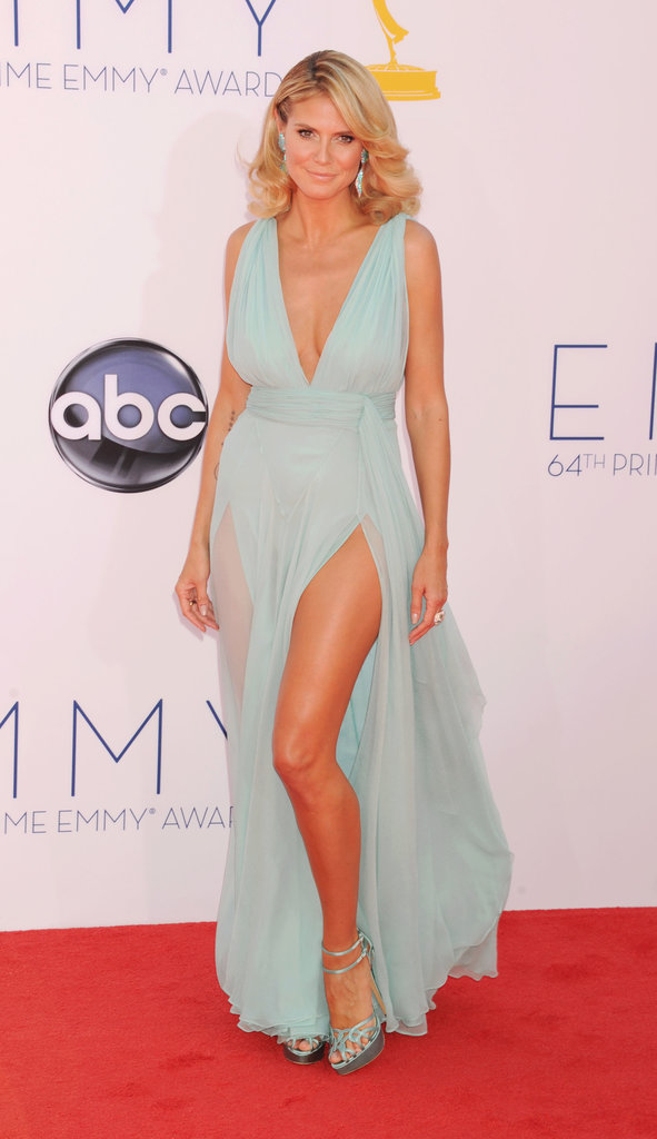 Heidi Klum in Alexandre Vauthier at the 2012 Emmy Awards